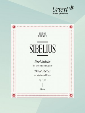 Sibelius: Three Pieces for Violin and Piano Op. 116 Product Image