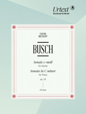 Adolf Busch: Sonata in C minor for Piano Op. 25 Product Image