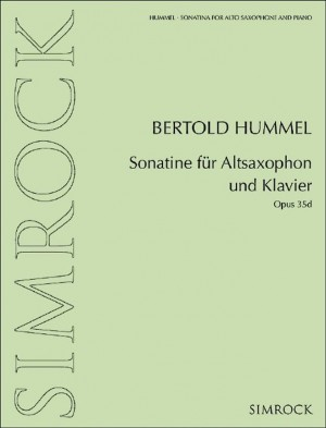 Hummel, B: Sonatina for alto saxophone and piano op. 35d Product Image
