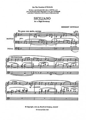 Herbert Howells: Siciliano For A High Ceremony