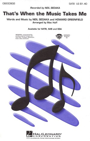 That's When the Music Takes Me. SATB Product Image