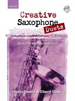 Santin: Creative Saxophone Duets + CD