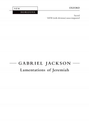 Jackson, Gabriel: Lamentations of Jeremiah [NH114]