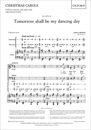 Gardner: Tomorrow shall be my dancing day