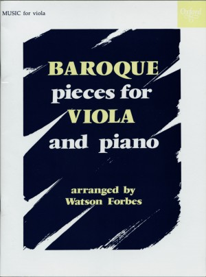 Forbes: Baroque Pieces for Viola and Piano