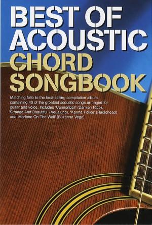 Best Of Acoustic: Guitar Chord Songbook   Presto Sheet Music