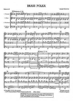 Joseph Horovitz: Brass Polka - Brass Quartet (Just Brass No.17)