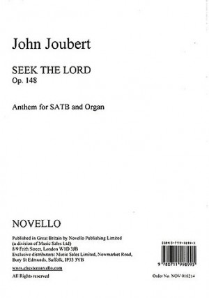 John Joubert: Seek The Lord Op.148