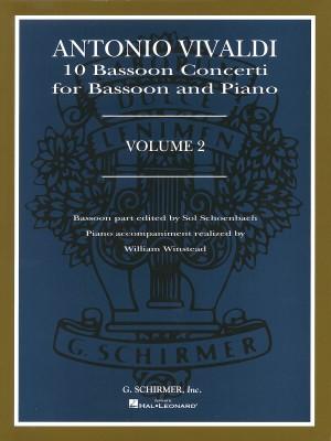 Antonio Vivaldi: 10 Bassoon Concerti Volume 2 (Bassoon And Piano)