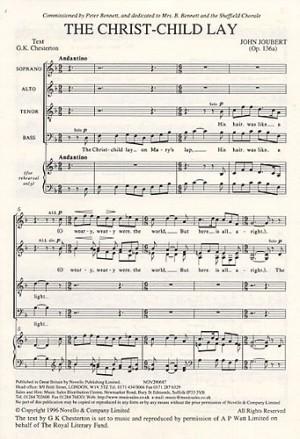 John Joubert: The Christ-Child Lay Op.136a