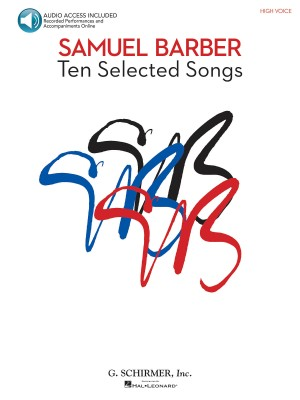Samuel Barber: Ten Selected Songs - High Voice