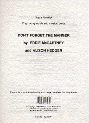 Alison Hedger_Eddie McCartney: Don't Forget The Manger