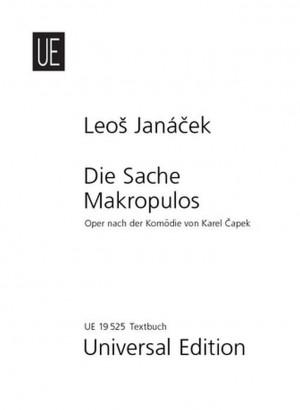 Janácek, L: Die Sache Makropulos Libretto