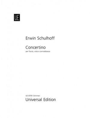 Schulhoff, E: Schulhoff Concertino Fl Vla Kb Parts
