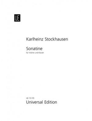 Stockhausen, K: Sonatine Vln Pft Nr. 1/8