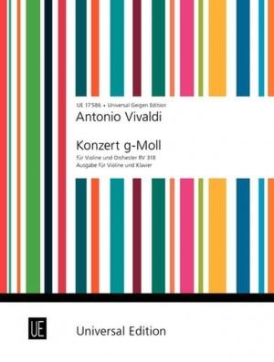 Vivaldi, A: Vivaldi Konzert Gmin Vln Pft Op. 6/3 Rv 318