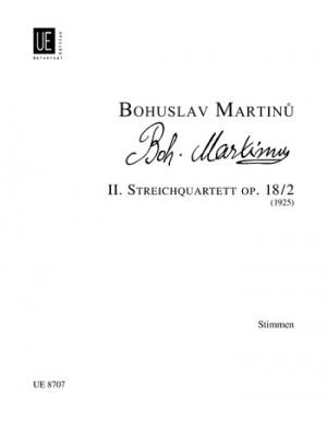 Martinu, B: Martinu Str.quartet No.2 Parts Op. 18/2