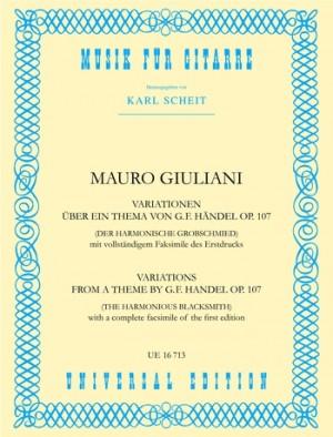 Giuliani, M: Giuliani Variations Theme Handel Gtr Op. 107