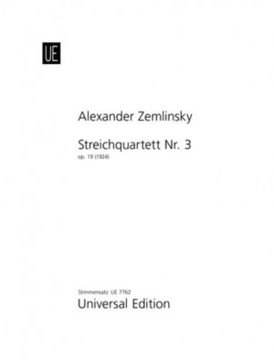 Zemlinsky, A: Zemlinsky Str.quartet No.3 Parts Op. 19