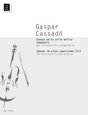 Cassadó, G: Cassado Sonata Vc Pft