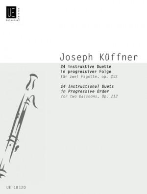 Kueffner, J: Kuffner 24 Instructional Duets Op12 2bsn Op. 212