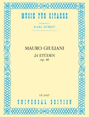 Giuliani, M: Giuliani 24 Etuden Op48 S.gtr Op. 48