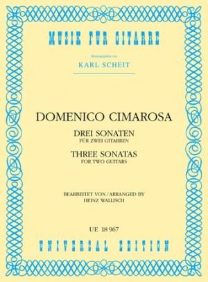 Cimarosa, D: Cimarosa Three Sonatinas 2gtr
