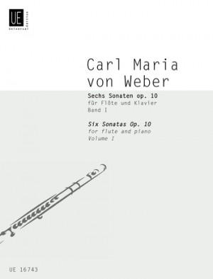 Weber: Weber 6 Sonatas Op10 Vol.1 No.1-3 Fl Pft Op. 10 Band 1