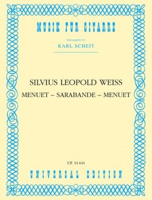 Weiss, S L: Weiss Menuet Sarabande Menuet S.gtr
