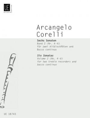 Corelli, A: Corelli Six Sonatas II 2tre Rec Bc Band 2