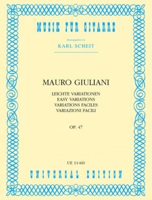 Giuliani, M: Easy Variations Op.47 op. 47
