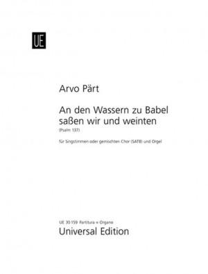 Paert, A: Part An Den Wassern Zu Satb.chor Org