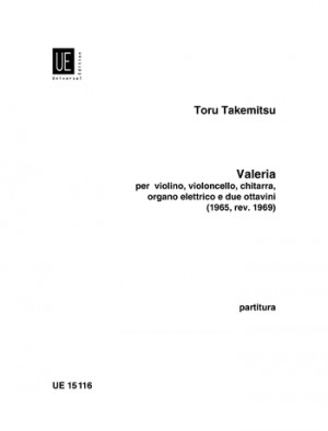 Takemitsu, T: Takemitsu Valeria Score