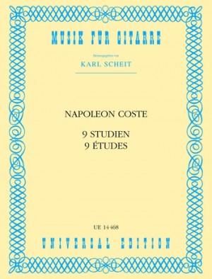 Coste, N: Coste Neun Studien S Gtr