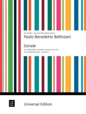Bellinzani, P B: Bellinzani Sonate Din Tre.rec Bc Op. 3/12