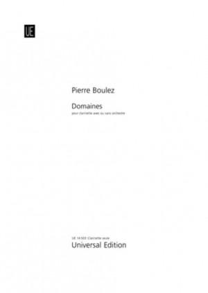 Boulez, P: Domaines