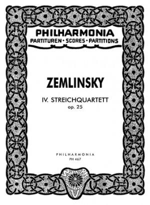 Zemlinsky, A: String Quartet No.4 op. 25
