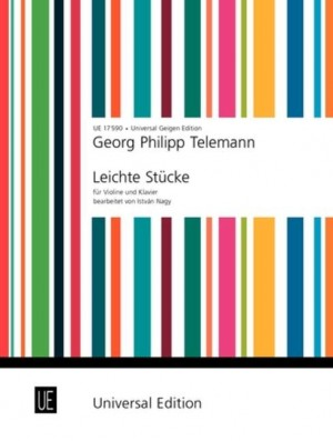 Telemann: Telemann Easy Pieces Vln Pft