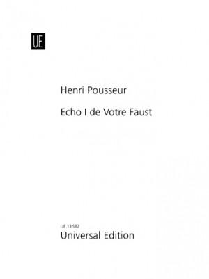 Pousseur, H: Pousseur Echos Vol1 S.vc