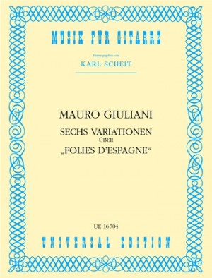 Giuliani, M: Giuliani 6 Variationen S Gtr Op. 45