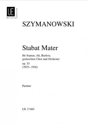 Szymanowski, K: Stabat Mater Op53 Min Score Op. 53