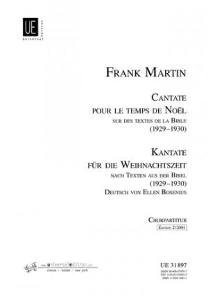 Martin, F: Cantate pour le temps de Noël