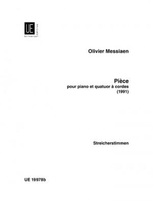 Messiaen, O: Piece Piano & Str.quartet Pft