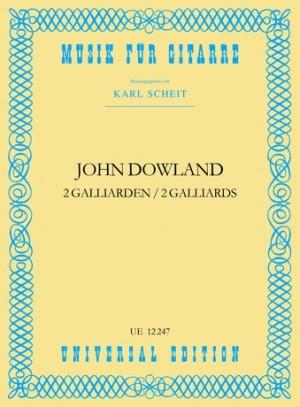 Dowland, J: Dowland Two Galliards S Gtr