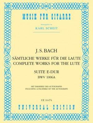 Bach, J S: Bach Js Suite E Maj Bwv1006 S Gtr Bwv 1006a