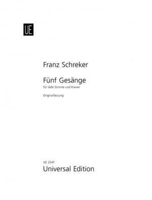 Schreker, F: Schreker 5 Songs L.vce/pft