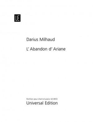 Milhaud, D: Milhaud Die Verlassene Ariadne Vocal