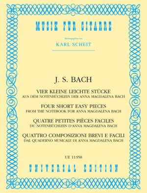 Bach, J S: 4 Little Easy Pieces from the Notebook of Anna Magdalena Bach