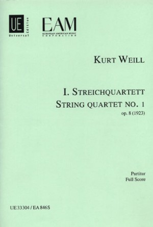 Weill, K: String quartet No 1 op. 8