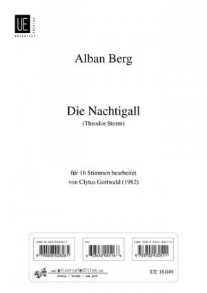 Berg, A: Die Nachtigall (16-part mixed voice choir)